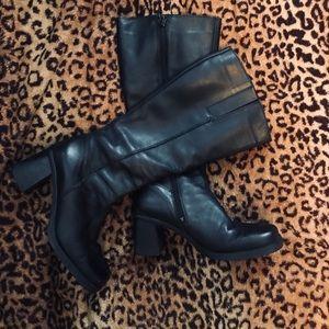 🖤 Aldo 90s style square toe chunky heel boots 🖤